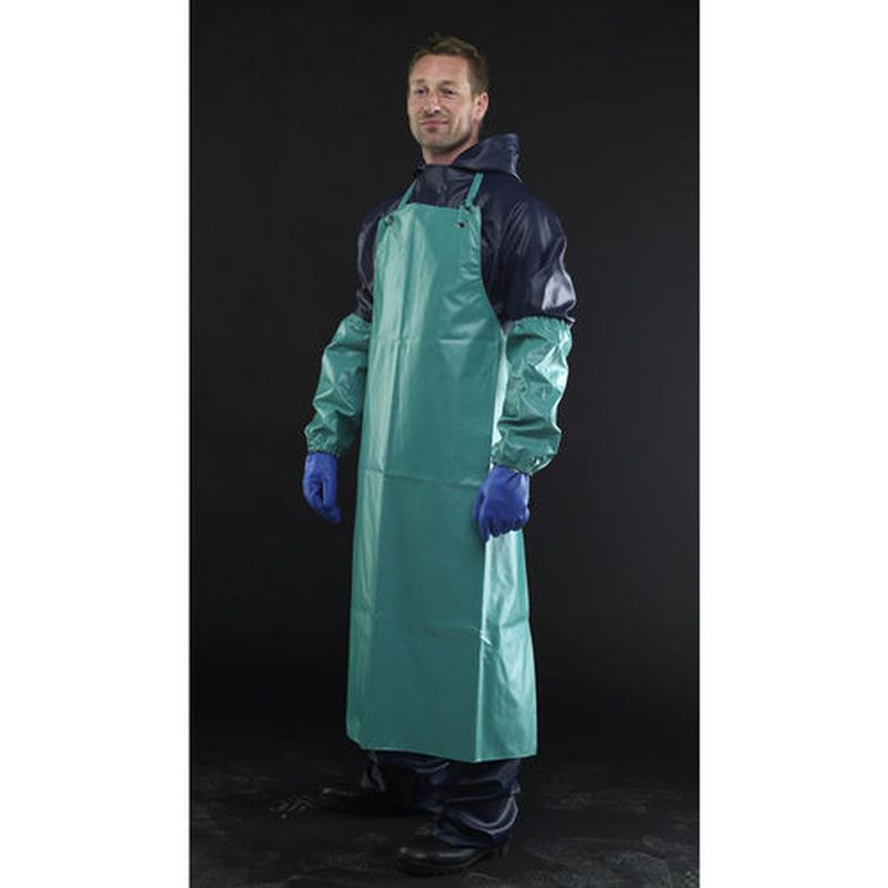 Chemial Resistant Apron Green c/w ties