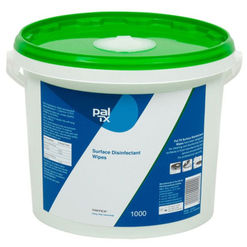 W1312 PAL TX Surface Wipes Disinfecant Tub 1000