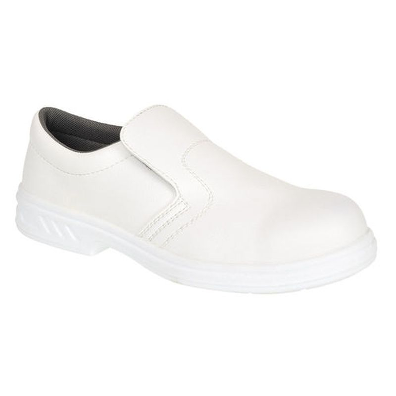 Safety Shoe Slip-On WHITE SZ8
