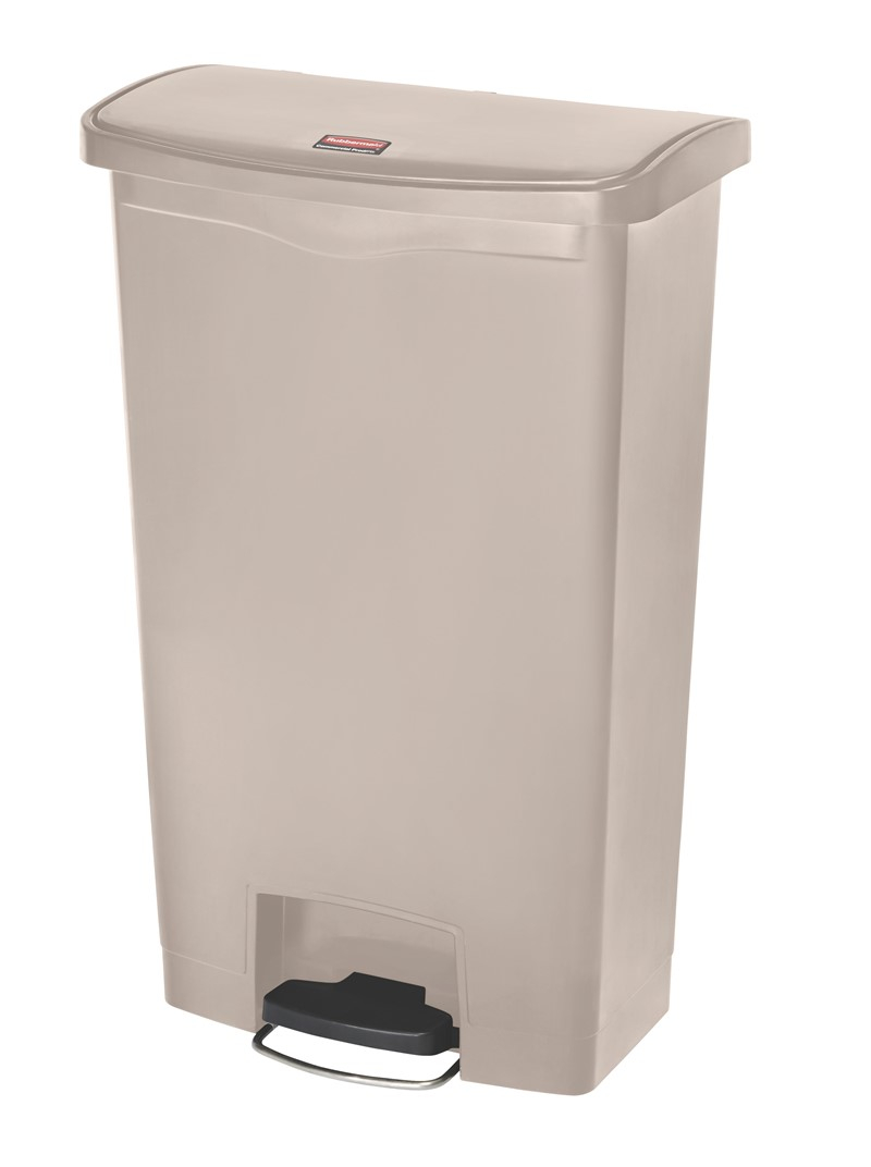 Bin Slim Jim Step On 68ltr Beige