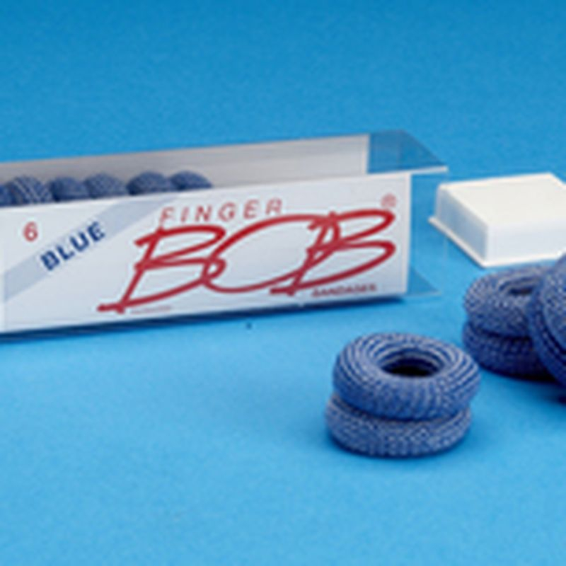 Finger Bob Dressing BLUE Pk6