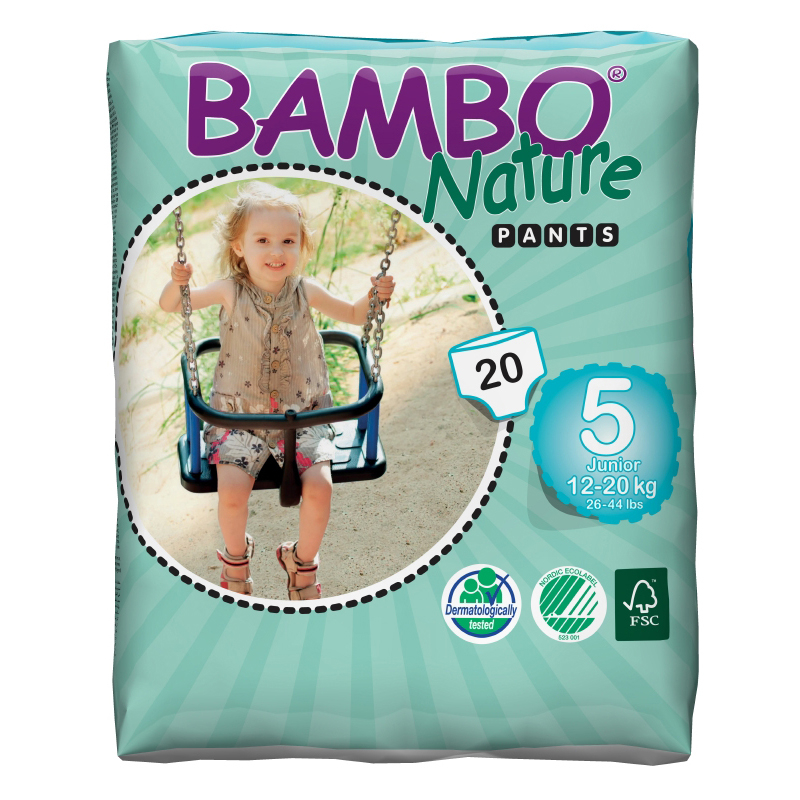 NAPPIES BAMBO TRAINING PANTS JUNIOR 20x5