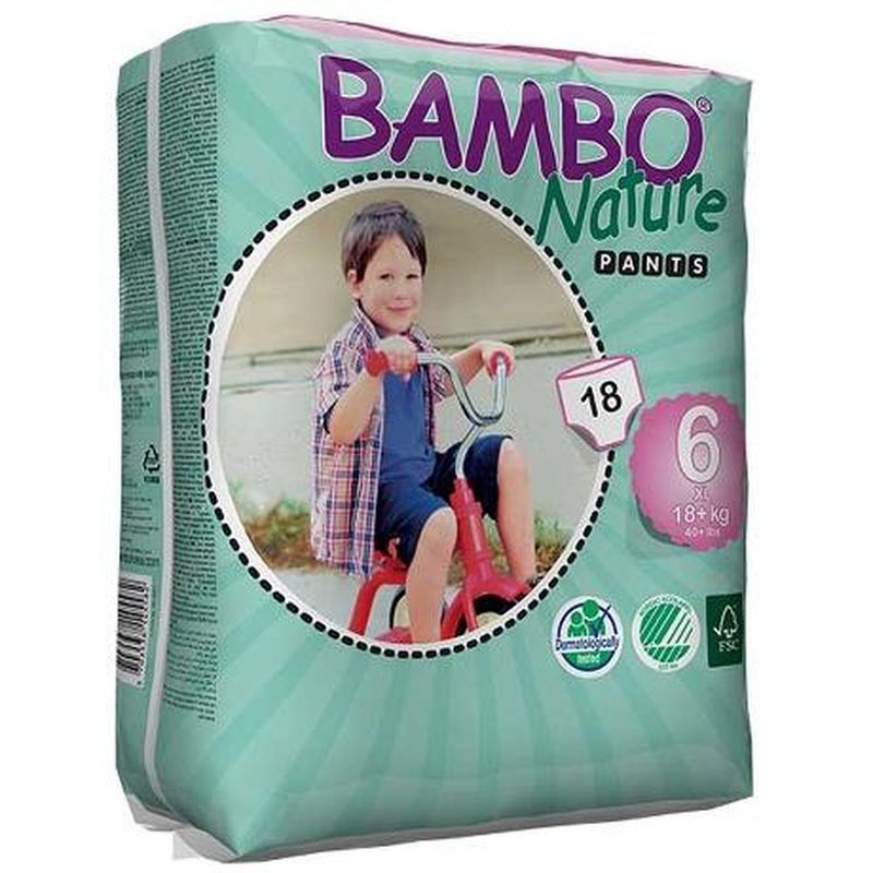 NAPPIES BAMBO TRAINING PANTS XL PLUS 18x5