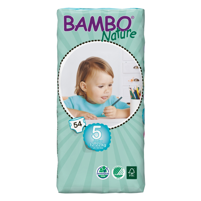 NAPPIES BAMBO JUNIOR 5 PK 54X3