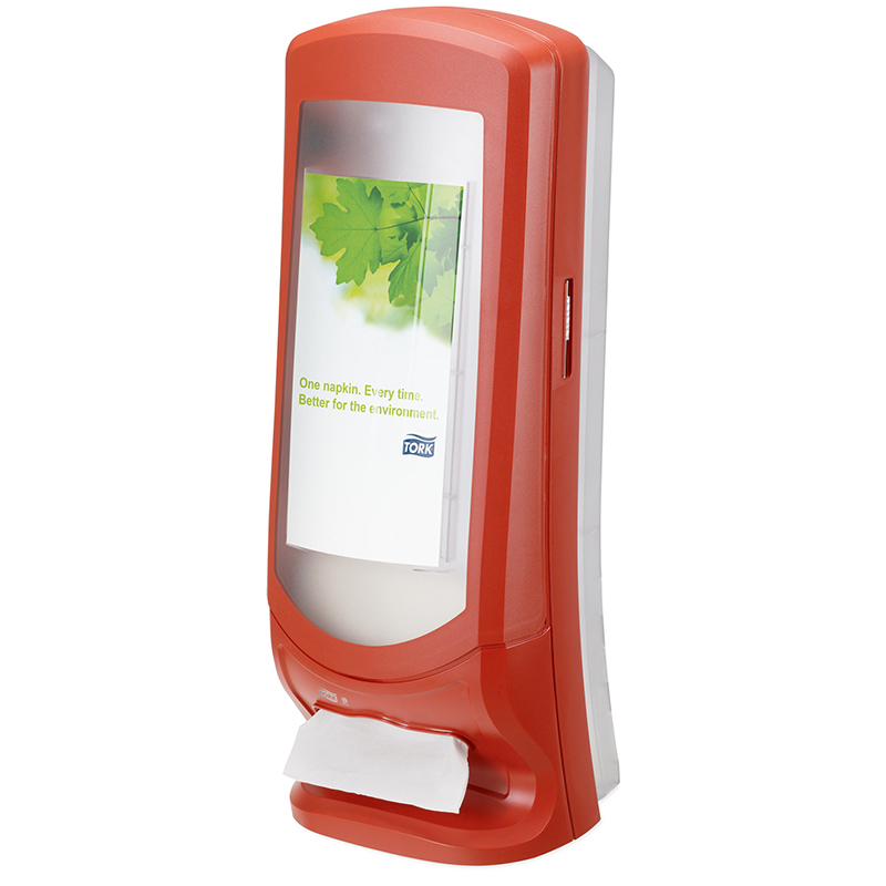 Napkin Dispenser Stand Tork Xpress RED