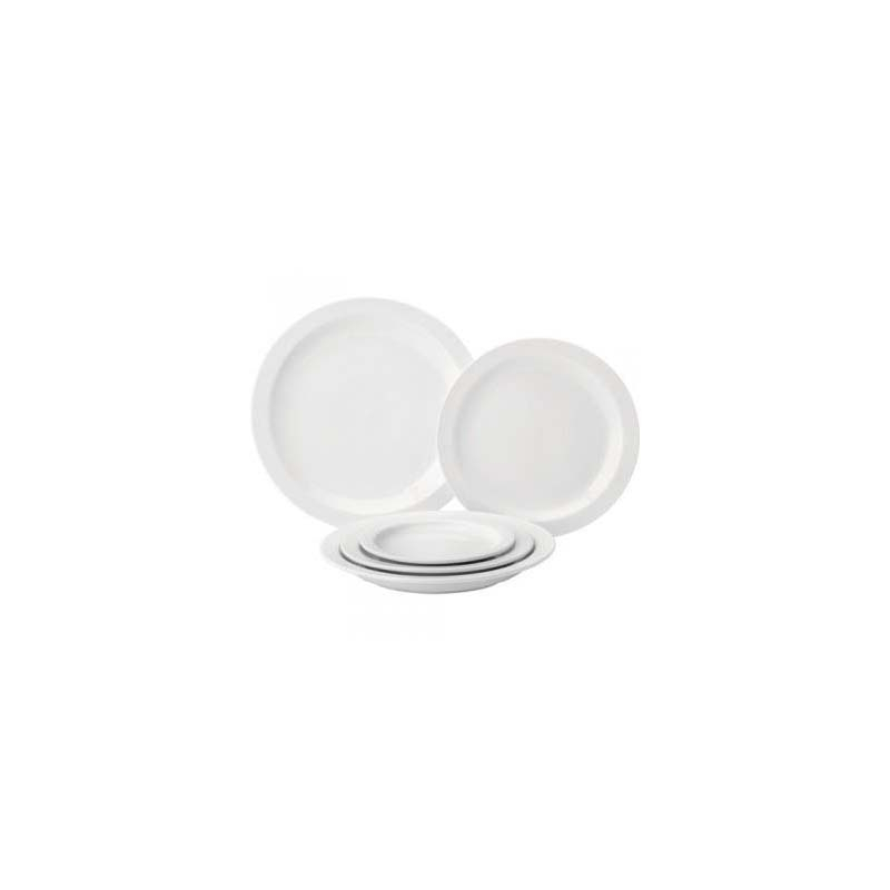 Pure White Narrow Rimmed Plates 6.5inch/16.7cm Cs6