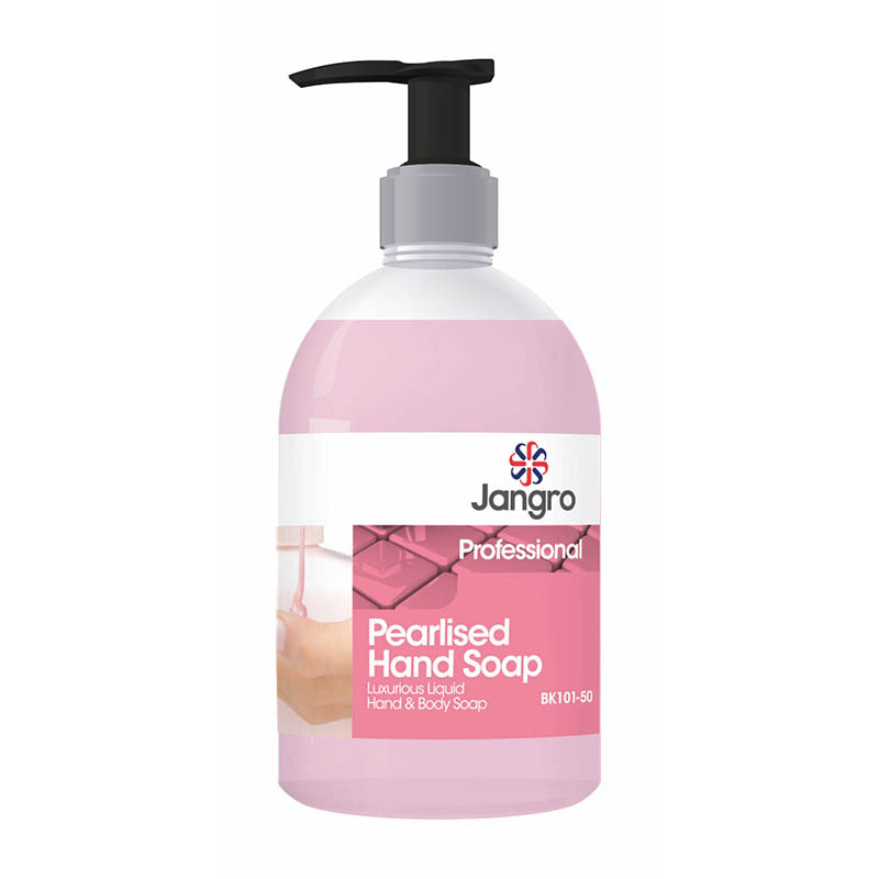Jangro Pearlised Hand Soap Pink 500ml PUMP