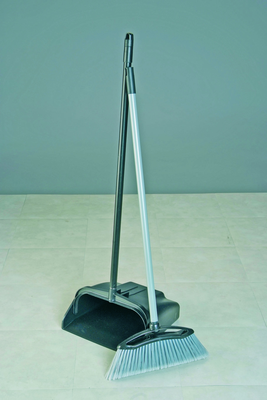 Lobby Dustpan & Brush Black