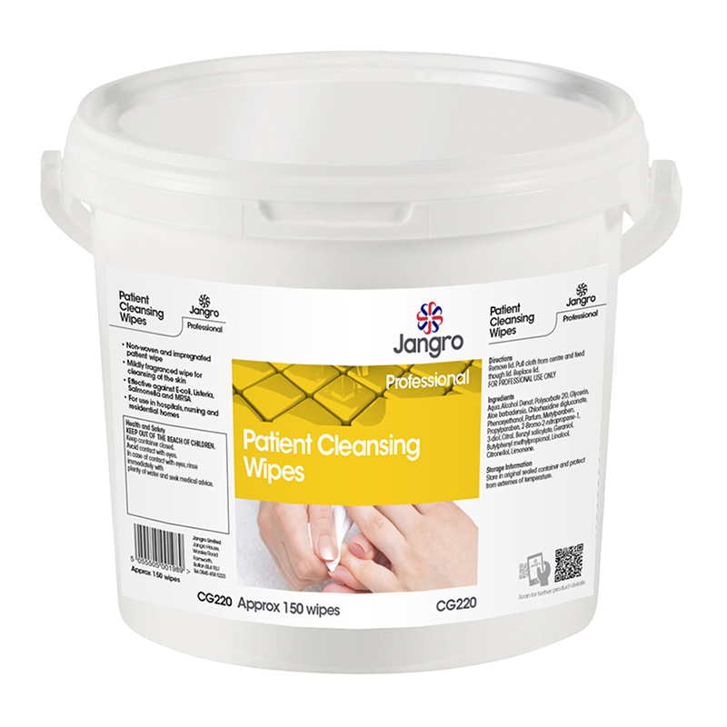 Jangro Patient Cleansing Wipes Tub 150 EB16.70