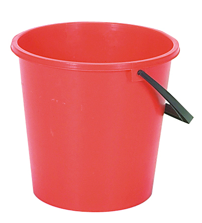 Bucket Round 2 gal RED 3302R