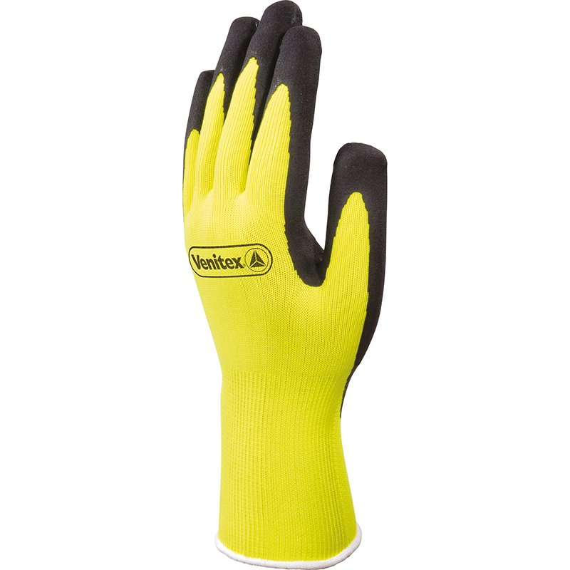 Glv Hi Vis Latex Coated Size 7