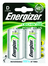Batteries Rechargeable Alkaline D 2 pk S639