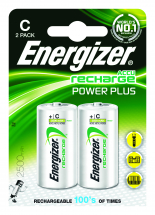 Batteries Rechargeable Alkaline C 2 Pk S633