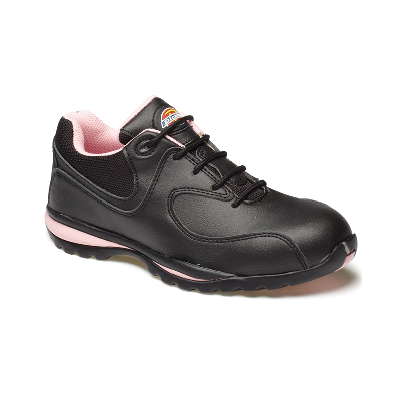 Dickies Ladies Safety Trainer Black/Pink Size 4