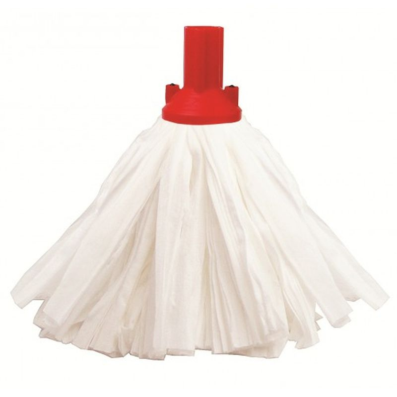 Big White Mop Head RED PSRE12