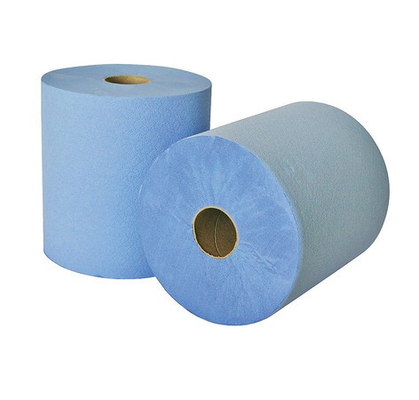 Leonardo 1ply Blue Roll Towels CS 6