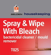 Sel Spray & Wipe with Bleach 750ml