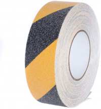 Hazard Tape Black and Yellow 18.3 meters x 50 mm Non Slip