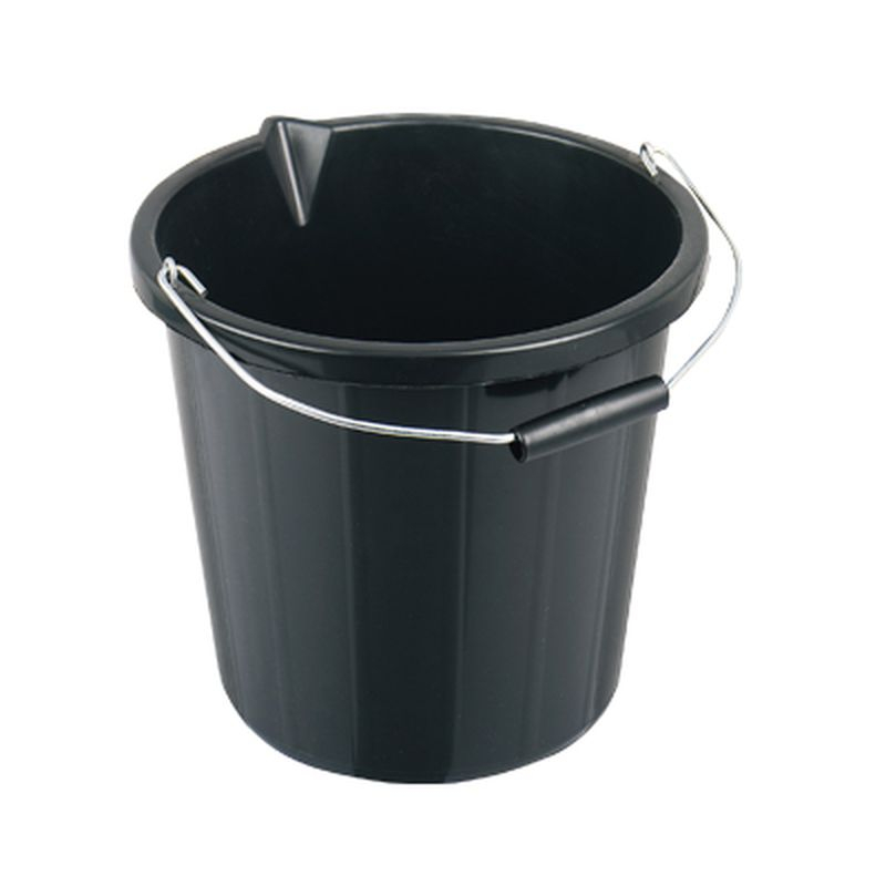 Bucket HD Builders Black 10ltr
