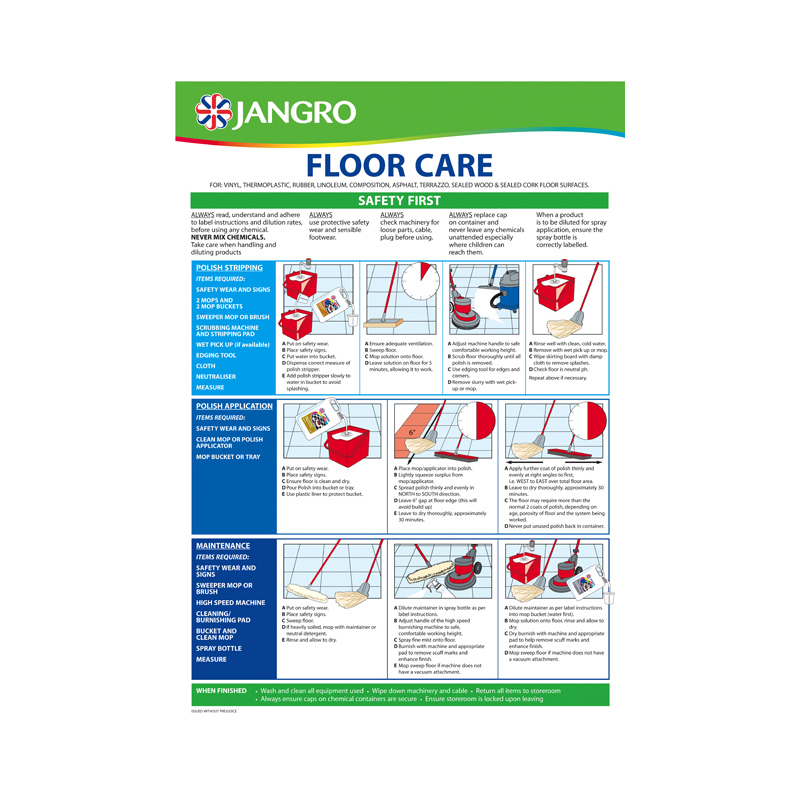 Wall Chart Floorcare